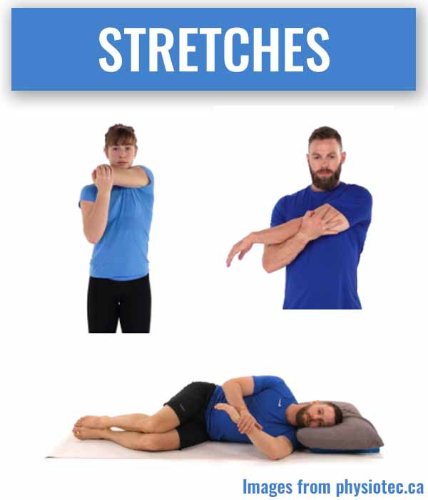 Stretches for SLAP lesions.