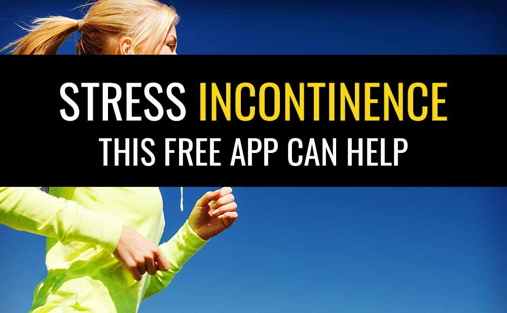 Stress incontinence can be fixed by doing pelvic floor exercises and this app can help.