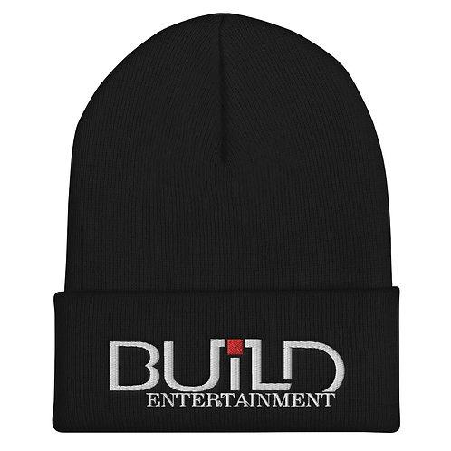 Cuffed Black Build Beanie