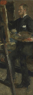 """James ENSOR """"Willy Finch painting"""", 1880"""