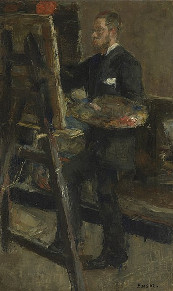 "James ENSOR ""Willy Finch painting"", 1880"