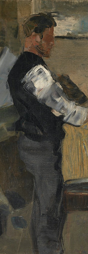 """James ENSOR """"Willy Finch dans l'atelier"""", ca. 1880"""