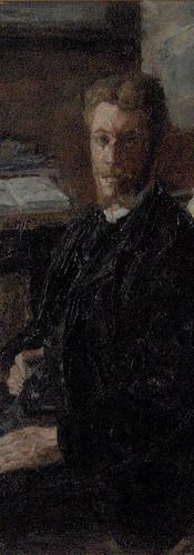 """James ENSOR """"Portrait de Willy Finch"""", 1882"""