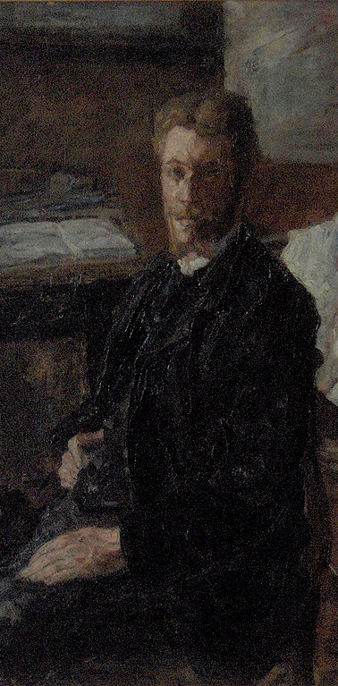 "James ENSOR ""Portrait de Willy Finch"", 1882"