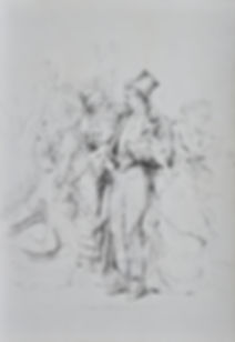 Charles HERMANS - À L'Aube - Drawing ca. 1875