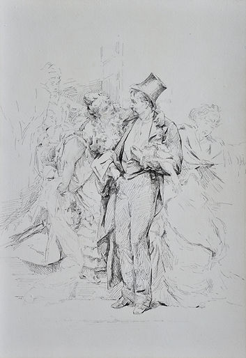 Charles HERMANS - À L'Aube - Drawing ca. 1875