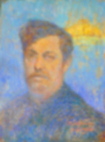 Maurice SOUDAN - Symbolist Selfportrait - 1910