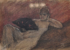 Félicien Rops - Au Salon