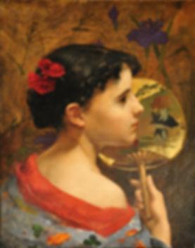 Carl Nys - La petite Japonaise - 1881