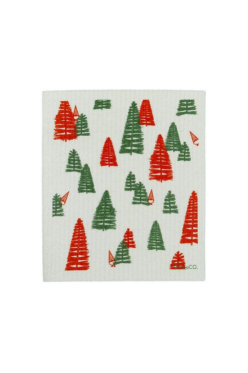 Festive Trees - Sponge Cloths