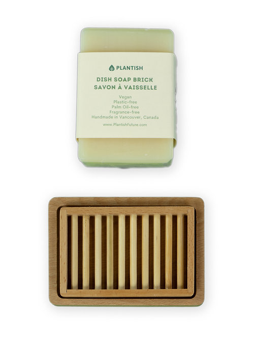 Large Dish Soap (13 oz)  Block with Bamboo Tray Duo