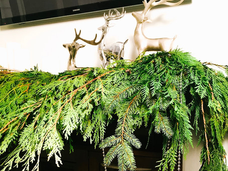 Simple Festive Greenery for Christmas.