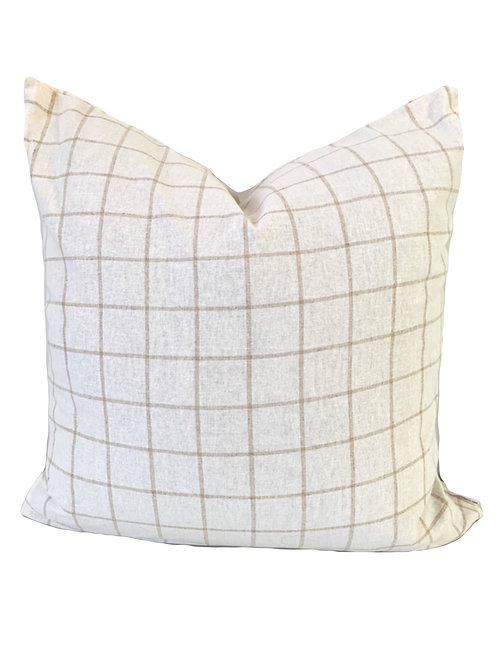 The Liam -Soft White/ Beige Pattern Pillow Cover  20x20