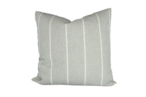 Natural Gray / White Stripe Pillow Cover