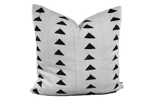 Aanya African Cream Mud Cloth Pillow - 1 Available