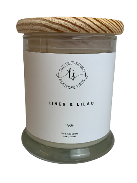 Linen and Lilac Scented Candle - 8oz