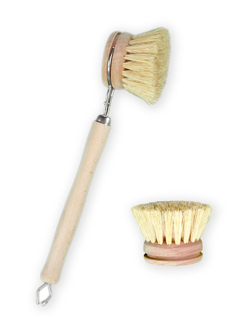 Sisal Dish Brush with replacement head duo.