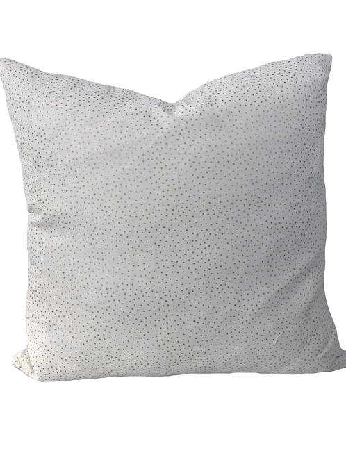 Gold Dot Holiday Pillow Cover 16x16