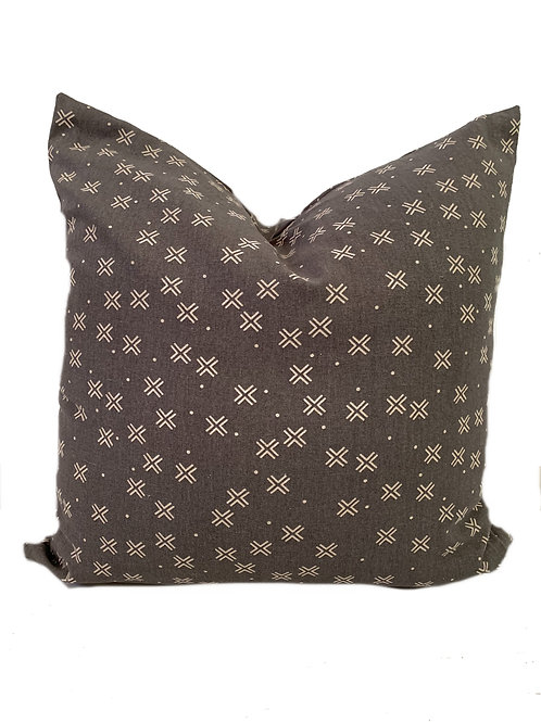 The Lenny - Grey with X - Pillow Cover 20x20