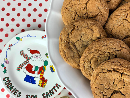 Chewy Molasses-Spice Cookies, Just In Time for Santa.