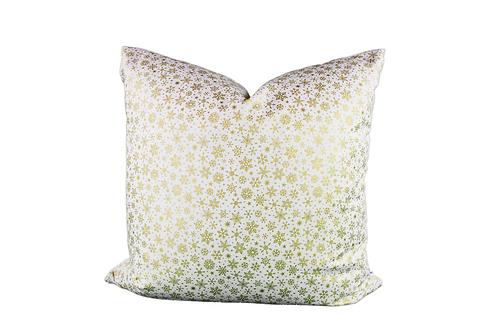 Golden Snowflakes Pillow Cover