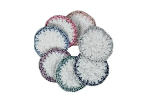 Cotton Face Scrubs - Pkg of 7