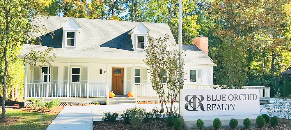 Blue Orchid Realty Realtors office headquarters in Cary, North Carolina. Heart of the NC Triangle Area.