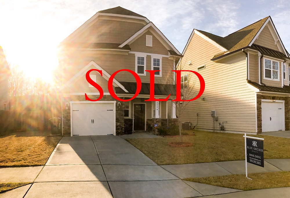 Raleigh North Carolina home sold. Blue Orchid Realty listing by Emme Zheng. Triangle NC Realtors.
