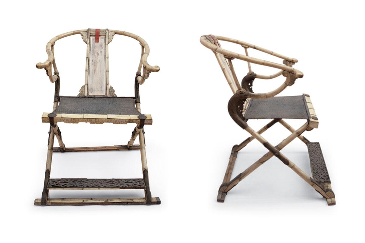 清 康熙 鹿角交椅 - 北京故宮博物院藏