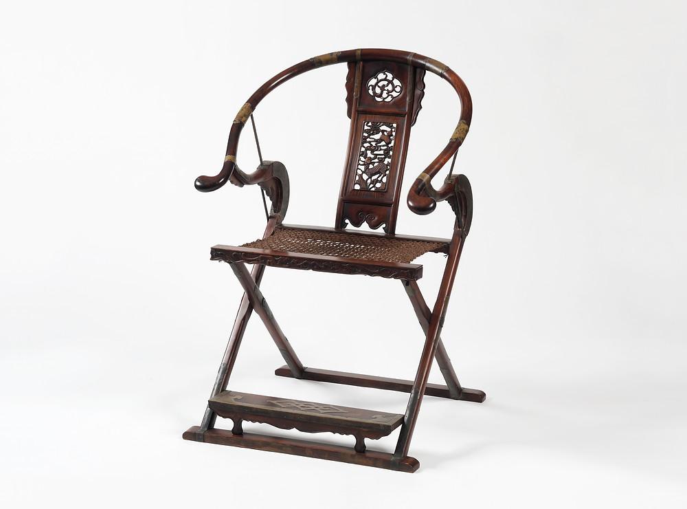 禪凌文物藝術-古董傢俱 - 交椅 (獵椅)