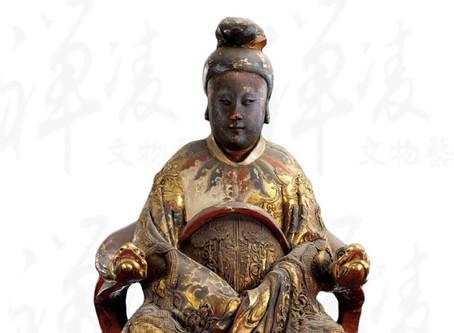 信仰的追尋與心靈庇護 - 木雕加彩媽祖坐像
