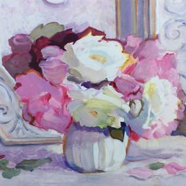 Still Life, Roses and Dutch Mirror