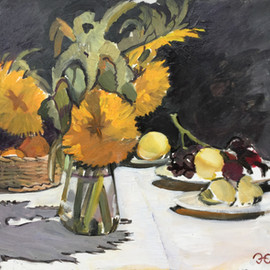 Sunflowers and Fruit