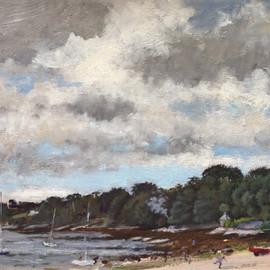 Loe Beach, Feock, Looking West
