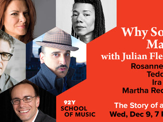 Why Songs Matter at the 92nd St. Y