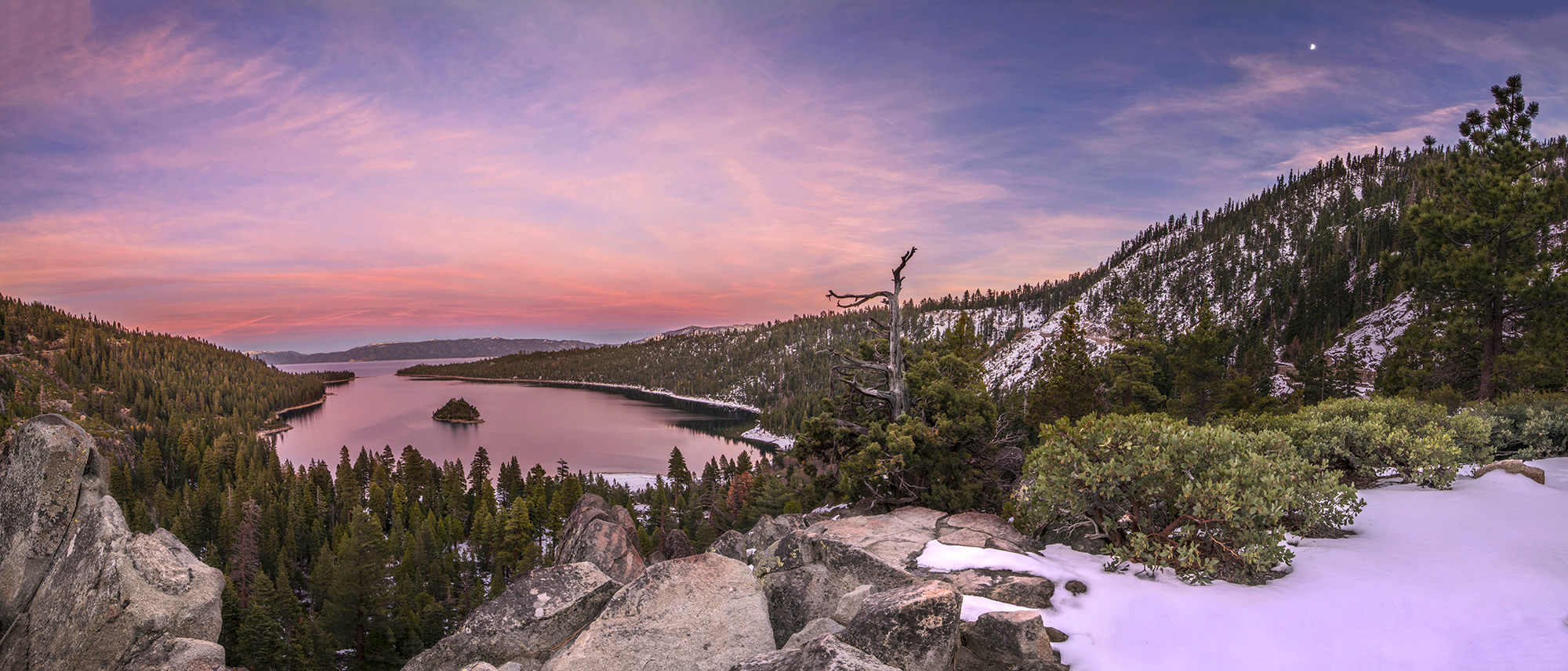 emerald bay sunset pano 11-18