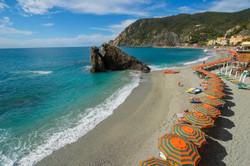 monterroso beach umbrellas