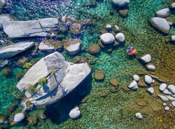 Lindsey & Dylan lifestyle aerial shot Bonsai Rock