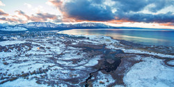 tallac meadow sunset snow color