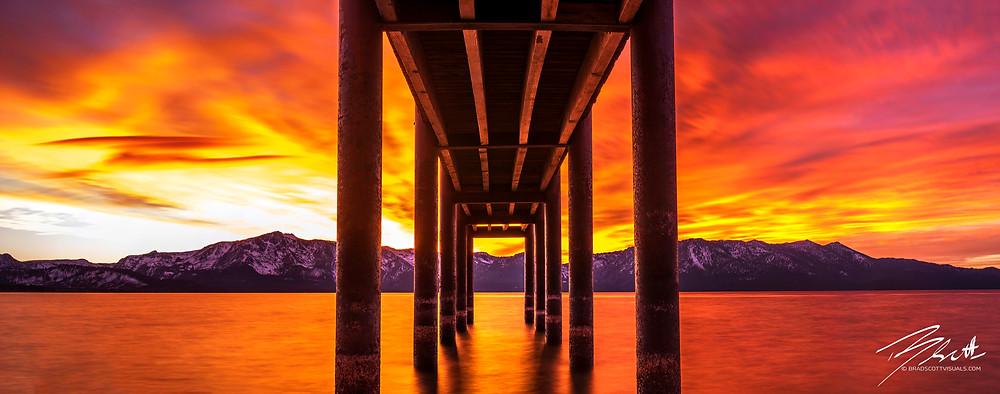 Window Of Perfection - Lake Tahoe Sunset Photo by Brad Scott