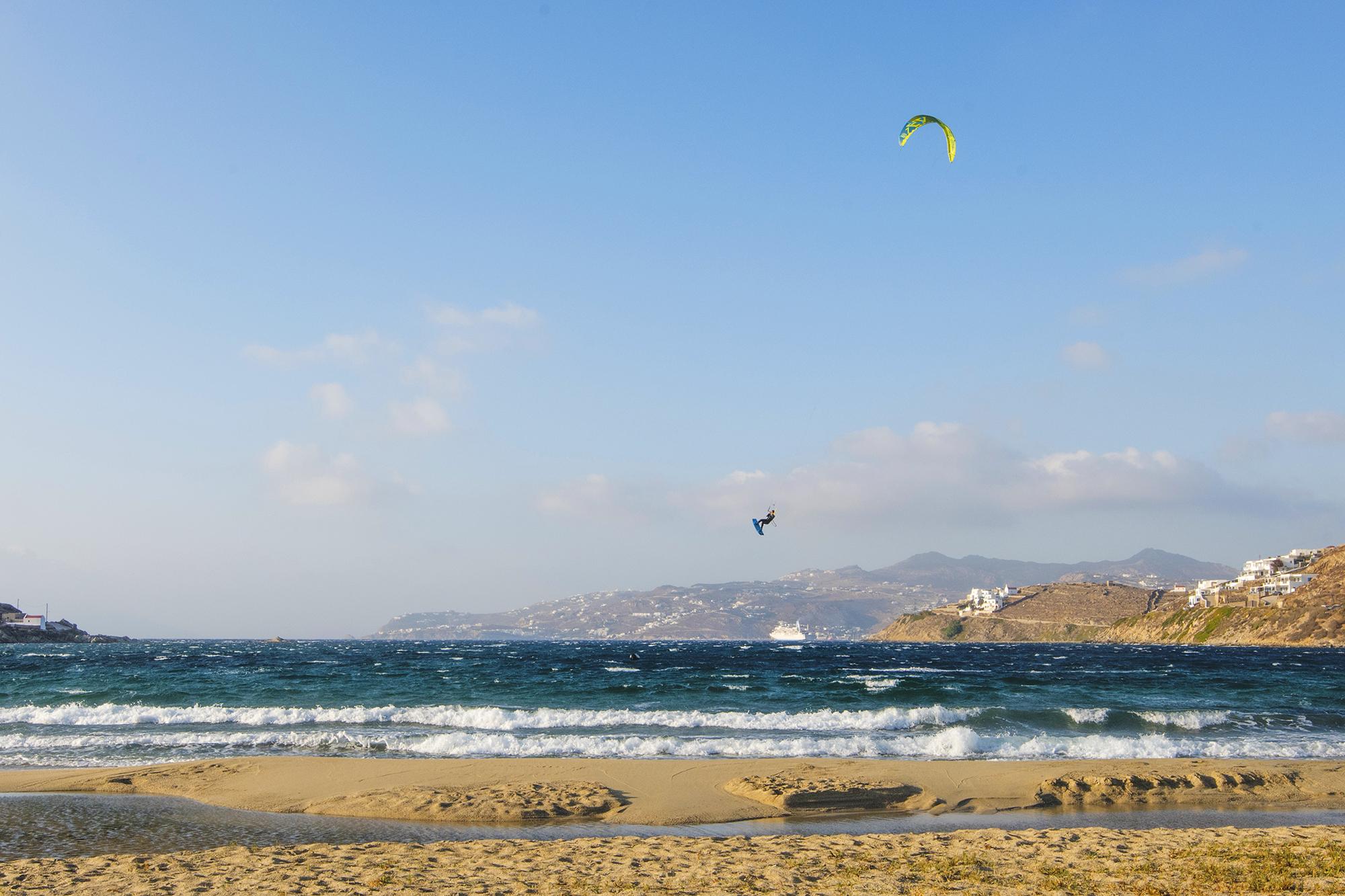 kite boarder mykonos
