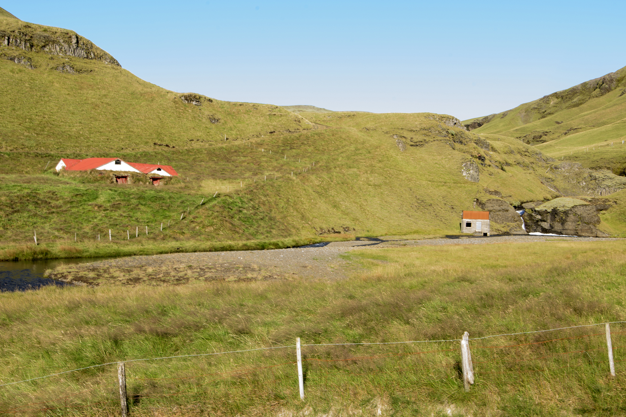 cottages in the hillside