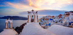 epic sunset pano oia color corrected