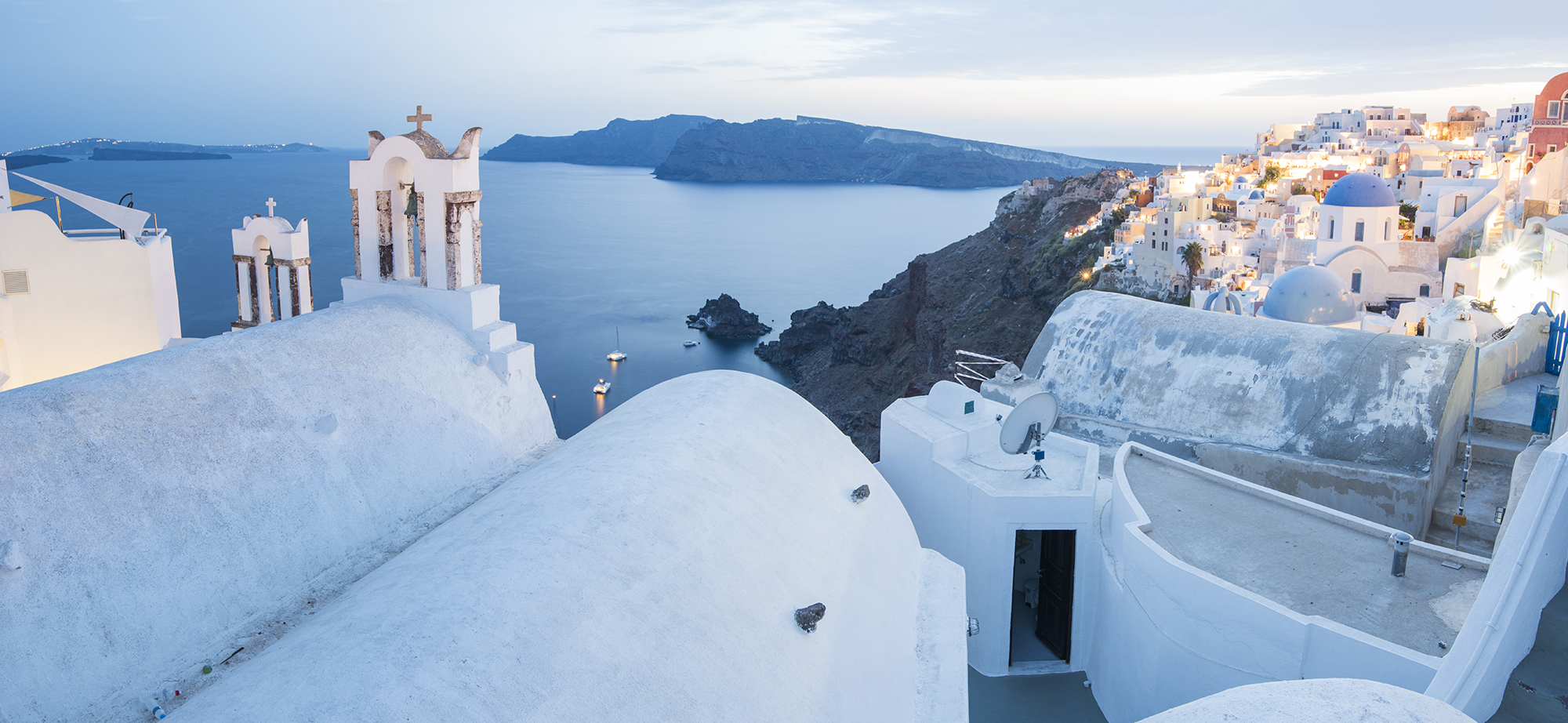 oia evening pano