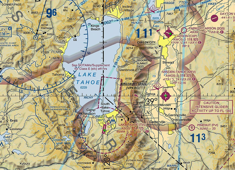 Lake Tahoe VFR chart