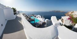 Santorini Pool with a view panorama
