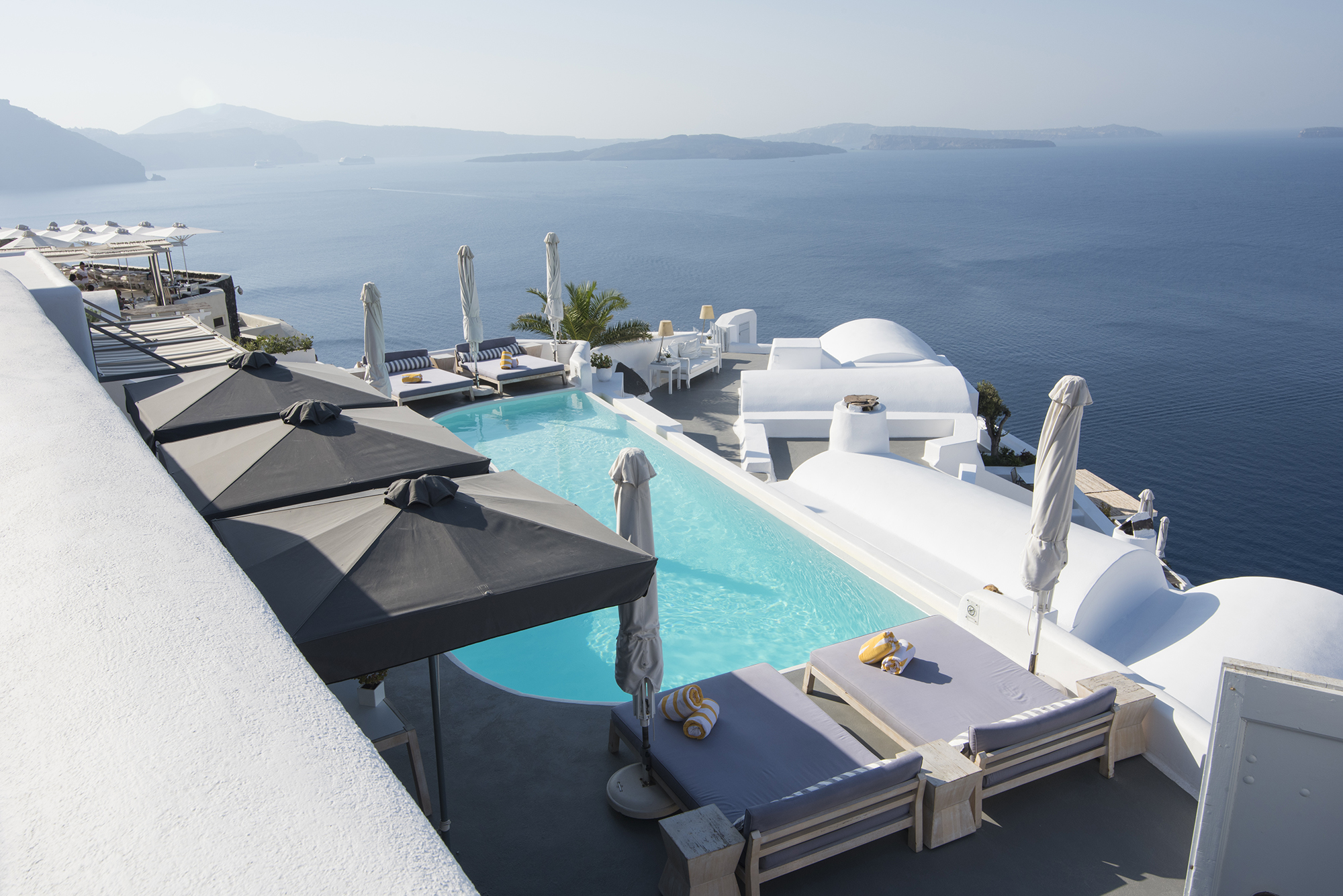 Santorini Pool with a view