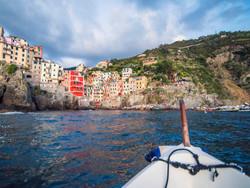 riomaggiore from boat