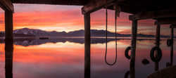 Under timber cove sunset pano