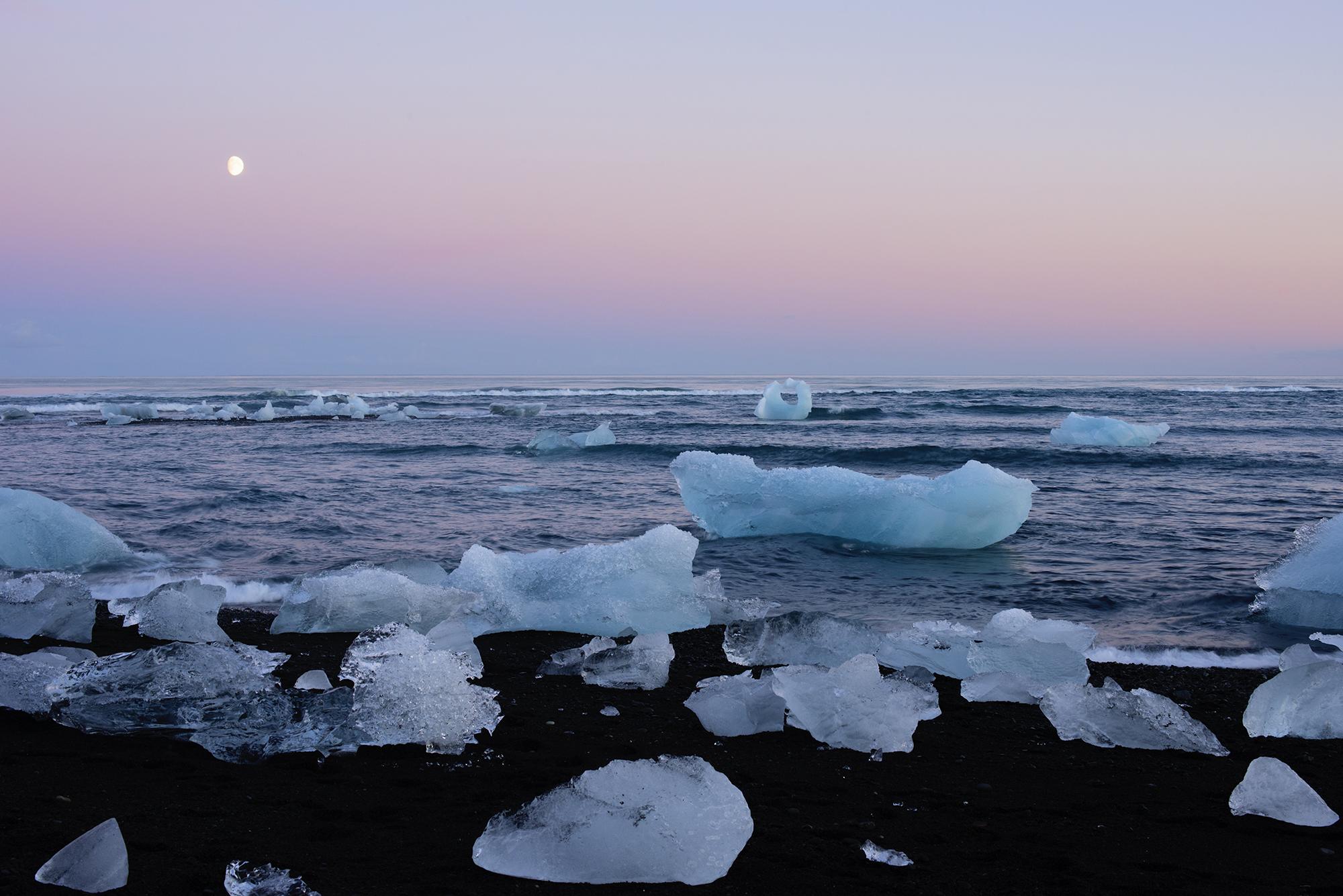 Moon Over Frozen Diamonds